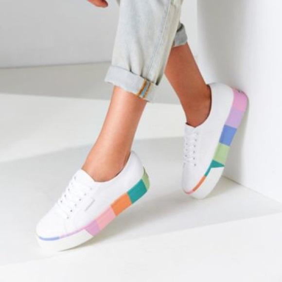 Nib Superga Rainbow Platform Sneaker